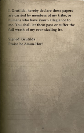 DOS Items Books Orders (Grutilda orc camp) Page