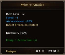 DOS Items Unique Winter Amulet