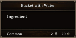 DOS Items CFT Bucket with Water