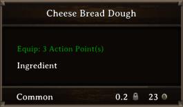 DOS Items FnD Cheese Bread Dough