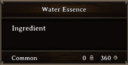 DOS Items CFT Water Essence