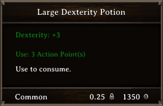 DOS Items Pots Large Dexterity Potion Stats