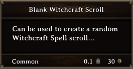 DOS Items Scrolls Blank Witchcraft Scroll