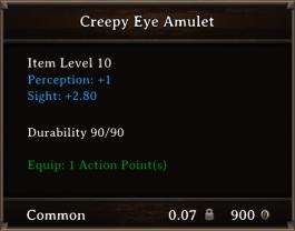DOS Items CFTX 10.5 Creepy Eye Amulet