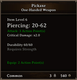 DOS Items Tools Pickaxe