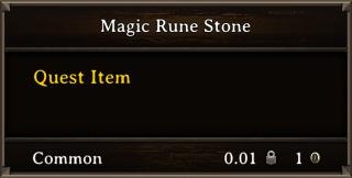 DOS Items Quest Magic Rune Stone Stats