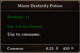 DOS Items Pots Minor Dexterity Potion