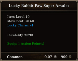 DOS Items CFTX 10.5 Lucky Rabbit Paw Super Amulet