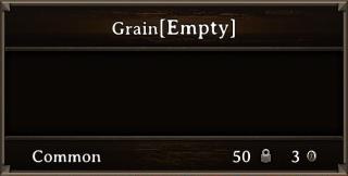 DOS Items Cntr Grain Stats