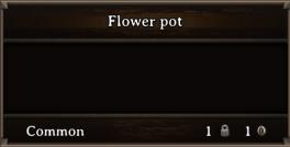 DOS Items Junk Flower Pot