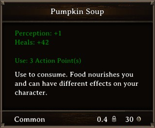 DOS Items Food Pumpkin Soup Stats