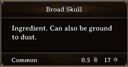 DOS Items CFT Broad Skull