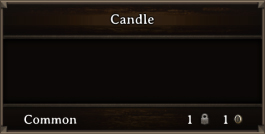 DOS Items Junk Candle