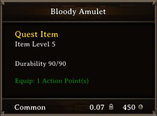 DOS Items Quest Bloody Amulet Stats