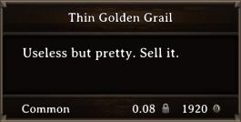 DOS Items Precious Thin Golden Grail