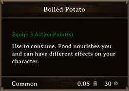 DOS Items FnD Boiled Potato