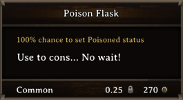 DOS Items Pots Poison Flask