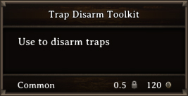 DOS Items Tools Trap Disarm Toolkit