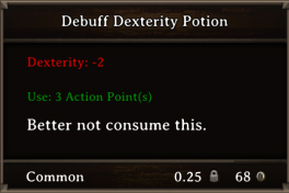 DOS Items Pots Debuff Dexterity Potion