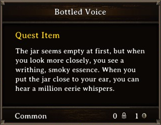 DOS Items Quest Bottled Voice Stats