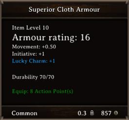 DOS Items CFTX 10.5 Superior Cloth Armour