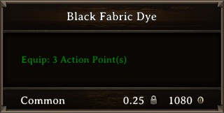 DOS Items CFT Black Fabric Dye Stats