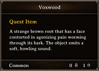 DOS Items Quest Voxwood Stats