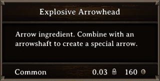 DOS Items CFT Explosive Arrowhead Stats