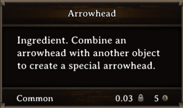 DOS Items CFT Arrowhead