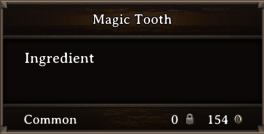 DOS Items CFT Magic Tooth