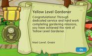 Badge gardening level 2 yellow