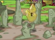Features crystal keyhole