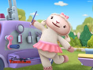 Lambie in doc mcstuffins goes mcmobile