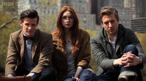 Matt Smith & cast interview - Doctor Who The Angels Take Manhattan - Series 7 2012 - BBC One