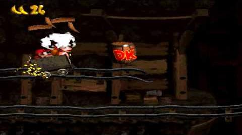 Donkey Kong Country (SNES) - Monkey Mines - Mine Cart Carnage