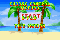 Option Menu 2001 - Diddy Kong Pilot
