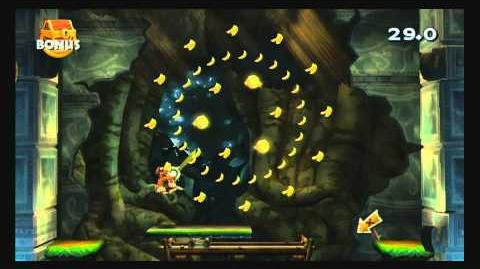 Donkey Kong Country Returns ~ World 1-2 (King of Cling) Puzzle Piece K-O-N-G Letters Guide