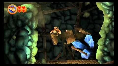Donkey Kong Country Returns ~ World 4-1 (Rickety Rails) Puzzle Piece K-O-N-G Letters Guide-0