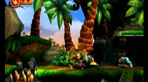 Donkey Kong Country Returns 100% Video Walkthrough 1-5 Canopy Cannons