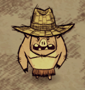 Pig With Straw Hat
