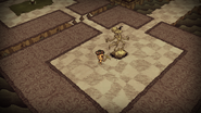 World 6 Maxwell Statue Before Mined