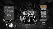 Dont Starve Together Menu