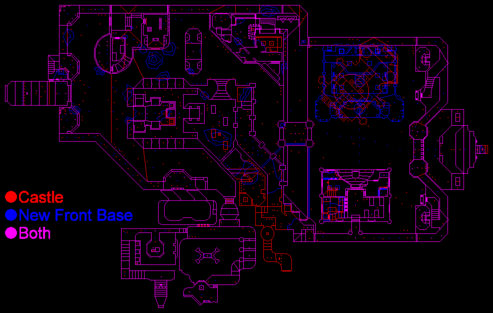 Strife Castle vs. New Front Base comparison