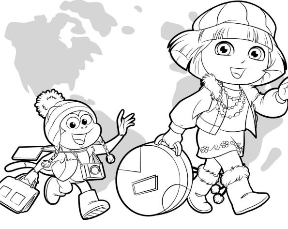 Dora And Friends Into The City Coloring Pages Printable