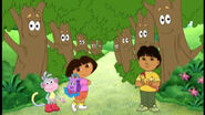 Going Through The Trees To Get To The Backpack Parade