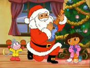 Santa playing music