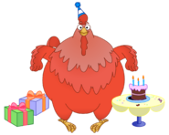 Dora the Explorer Big Red Chicken Character Birthday Party