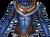 Chest blue jaguar warrior