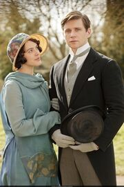 Downton Abbey Lady Sybil and Tom Branson at Downton Place