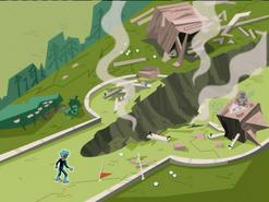 S02e17 destroyed golf course